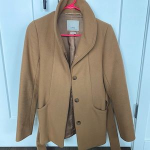 Aritzia Wilfred Cocoon Coat Camel XS Wool